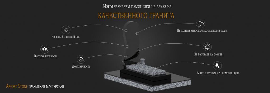 гранитный памятник от аргест стоун