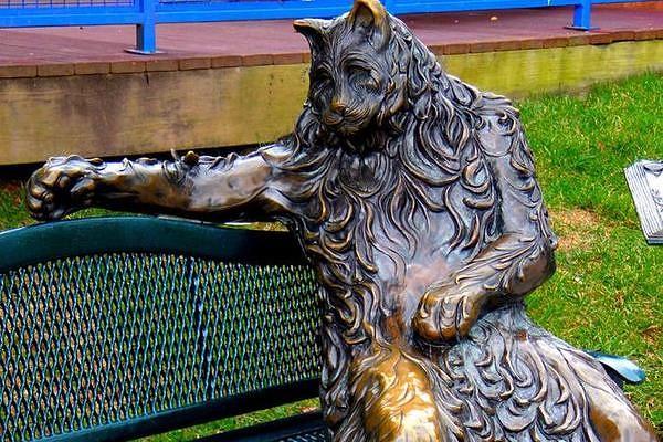 необычный памятник Кот из Мэриленда